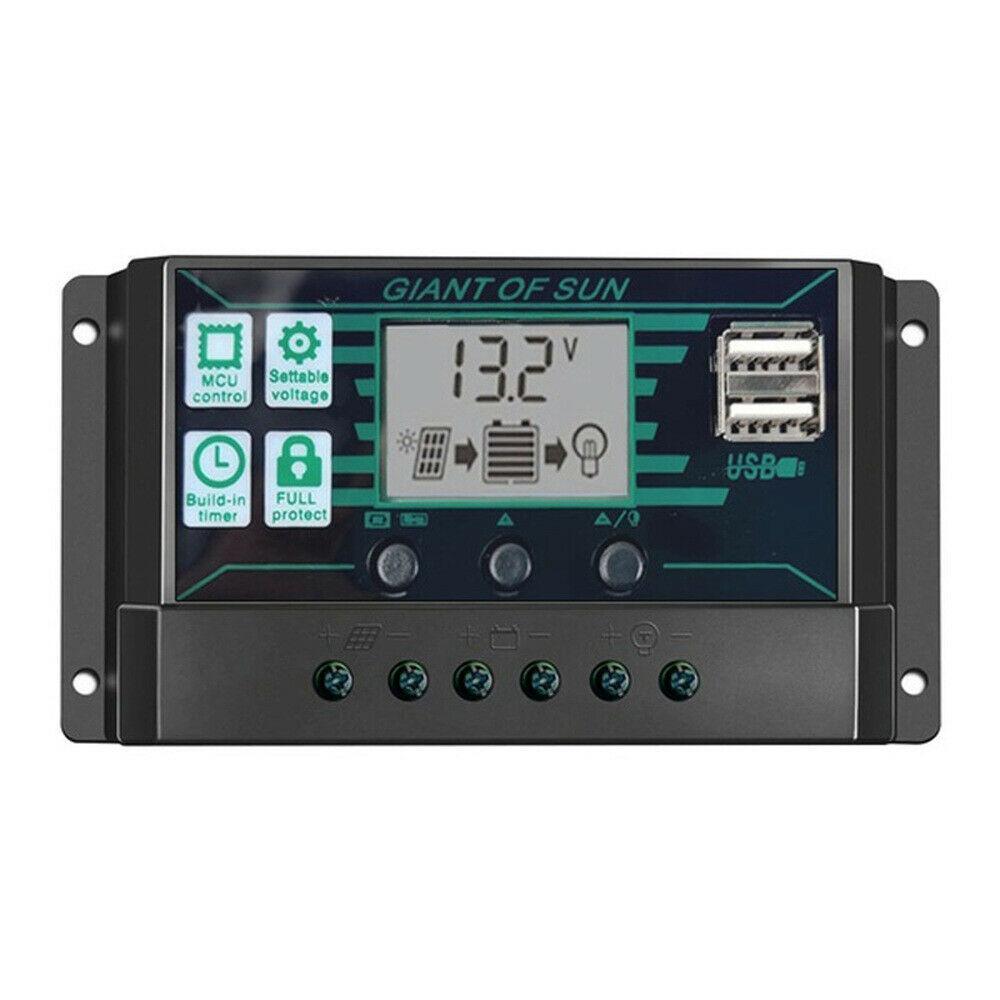AU MPPT 10~150A 12/24V Solar Panel Regulator Charge Controller Auto LCD Dual GOO