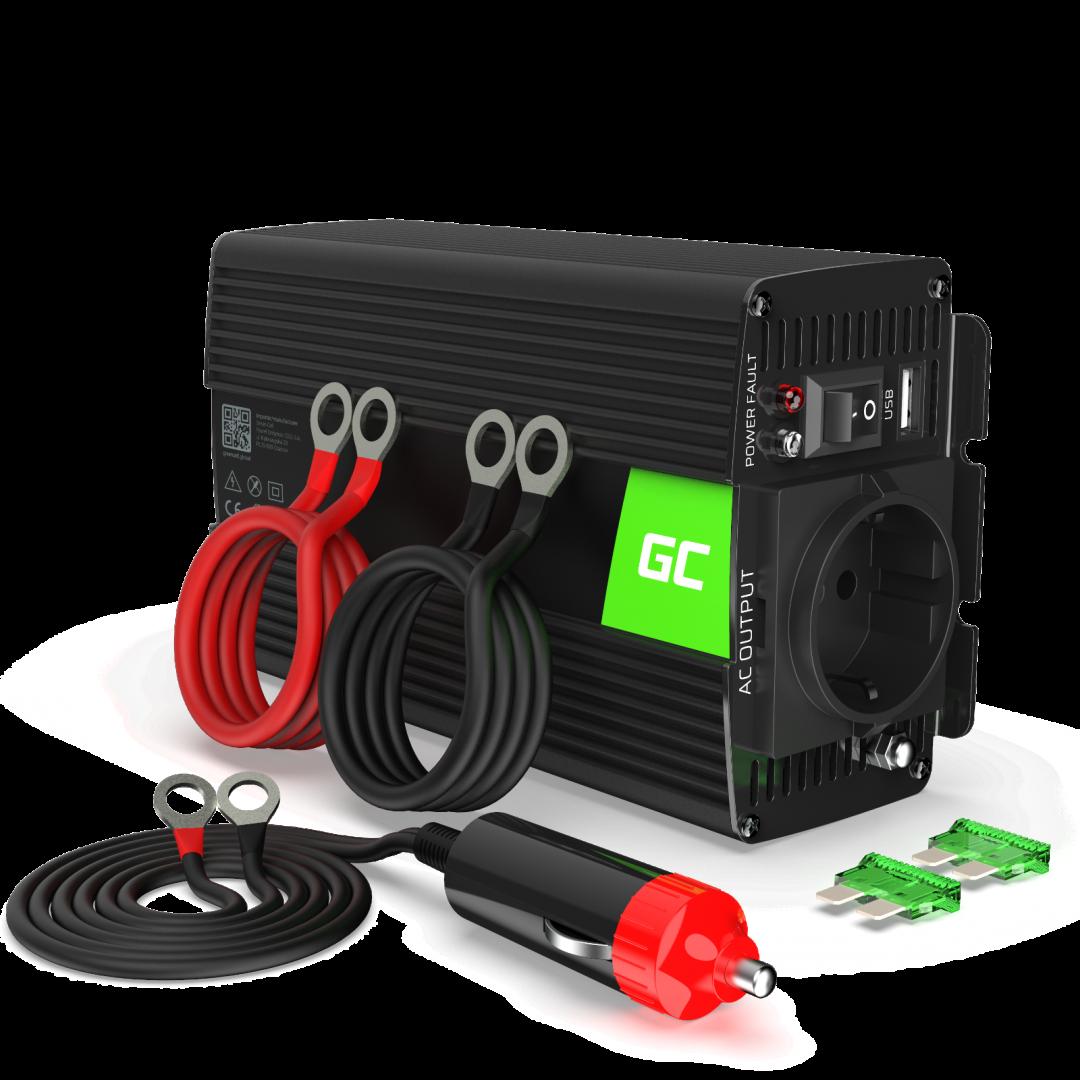 GC 300W/600W Voltage Converter Inverter 24V to 230V Power Inverter USB EU STOCK