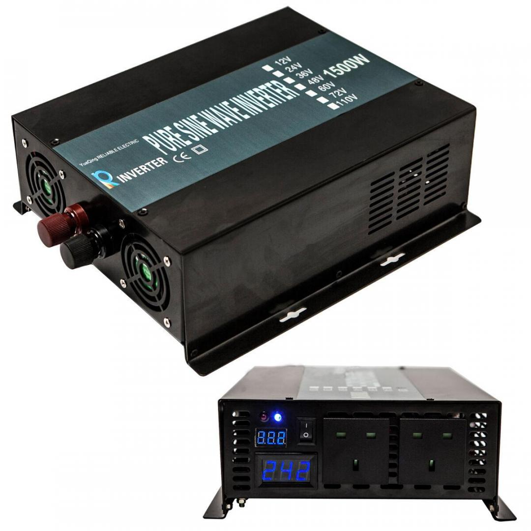 Pure Sine Wave Car Power Inverter 1500W 12V DC to 240V AC with LED Display