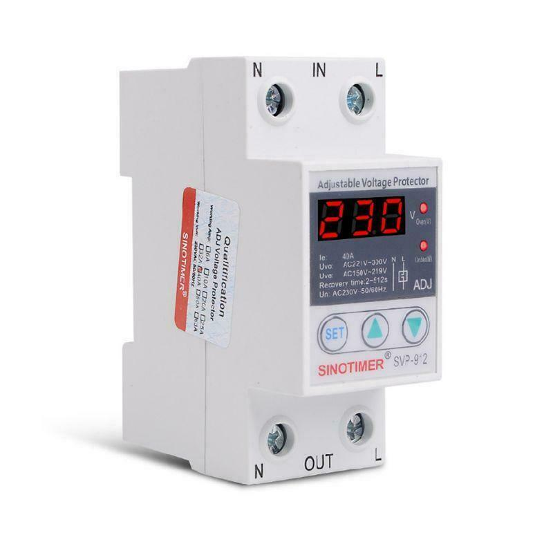 220V 40/63/80A Over Under Voltage Protector Relay Reconnect Protective Device X