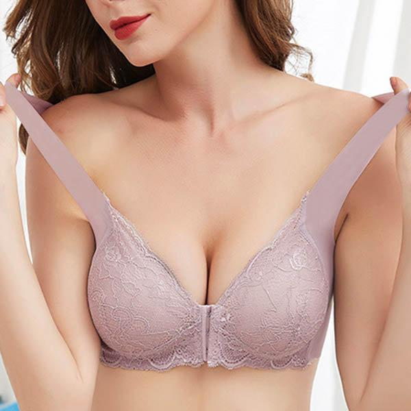 3XL Front Closure Lace Wireless Seamless Full Coverage Bras