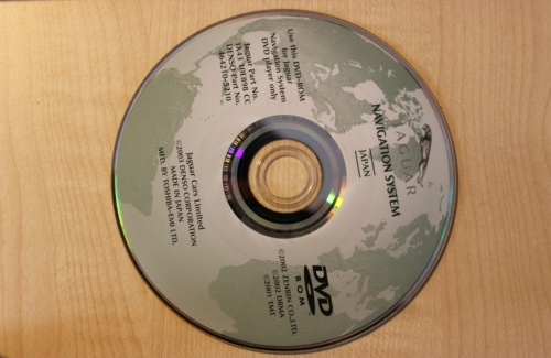 JAGUAR NAVIGATION SYSTEM JAPAN  CD ROM ORIGINAL