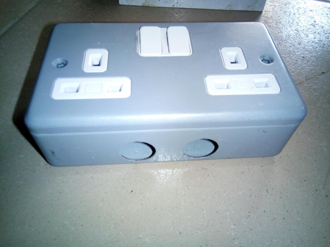 MK Y1634 2 Gang DP Switched Twin Socket 13A