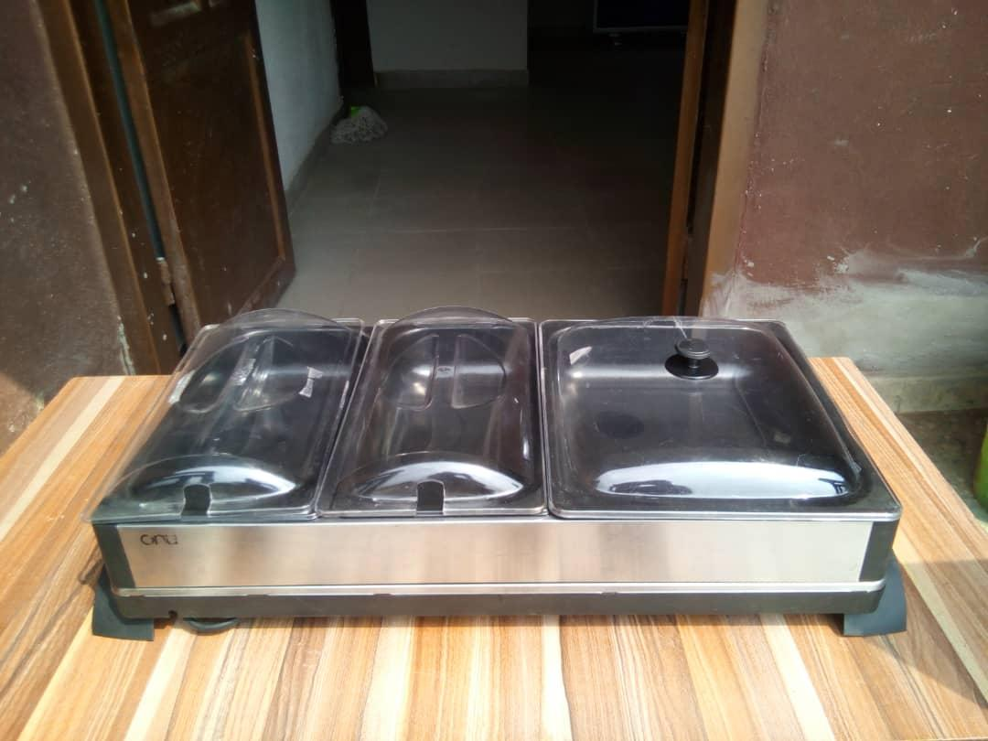Tower 3 Tray Buffet Food Warmer / Server -...