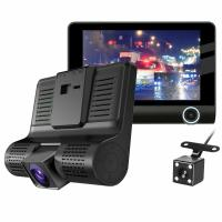 "4"" Car DVR Front and Rearview Video Dual Lens HD 1080P Dash Cam Recorder Camera G-sensor For Sale in Nigeria"