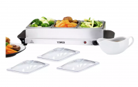 Tower Three Tray Buffet Server and Plate Warmer For sale in Nigeria-tower-3-tray-buffet-food-warmer-martfame.ng-thumb