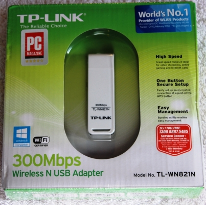 TP-LINK TL-WN821N Network adapter - Hi-Speed USB
