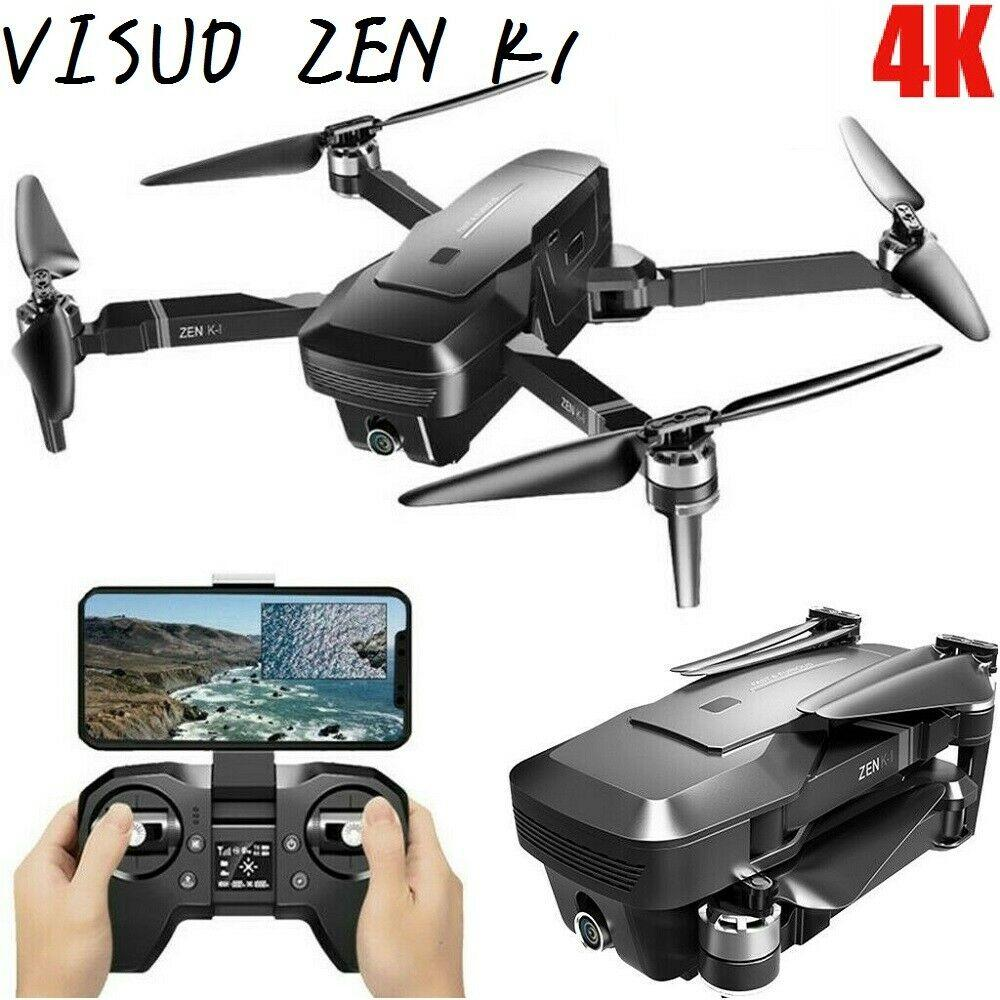 VISUO ZEN K1 Drone 5G WIFI 4K Dual Camera GPS Brushless Foldable Altitude Hold