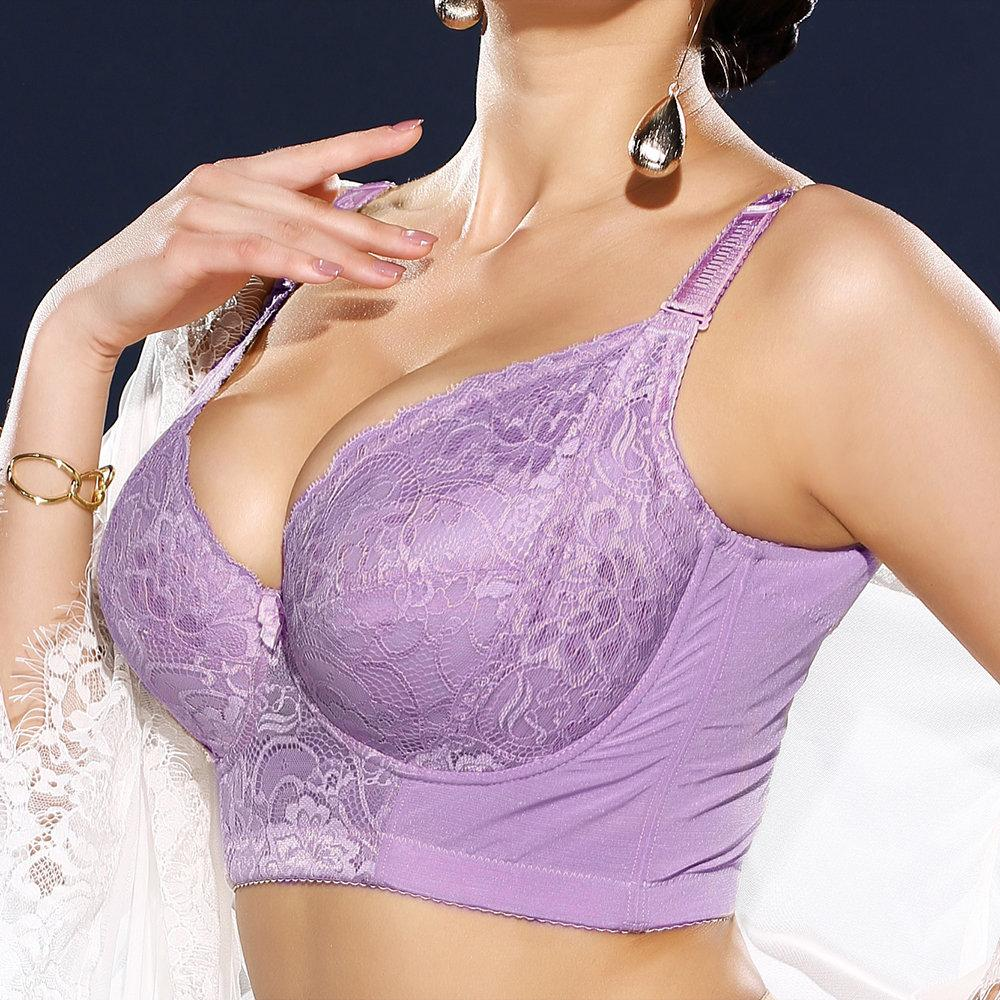 plus-size-embroidery-gather-plunge-thin-j-cup-push-up-long-lined-lace-bra9c26