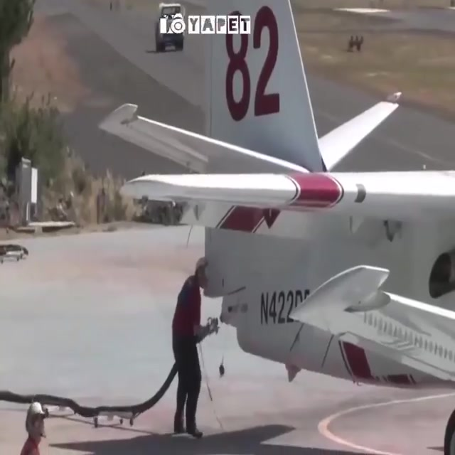 Fire Fighting Airplanes In Action